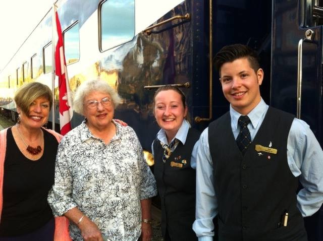 Rocky Mountaineer Staff with Mary & Mom