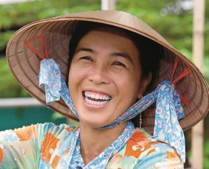 Smiling Vietnamese Woman